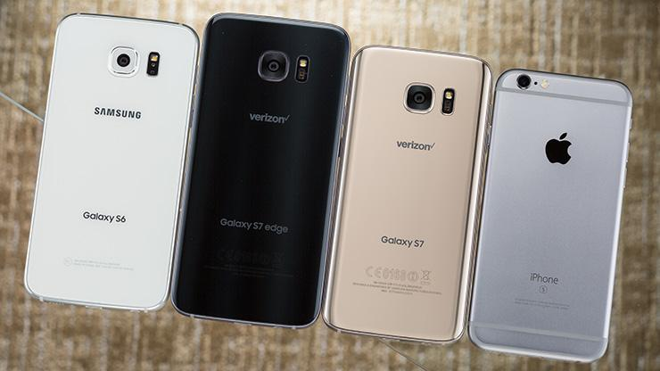 Samsung Galaxy S7 S7 Edge et iPhone X