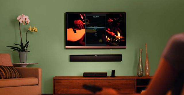 téléviseur et barre de son