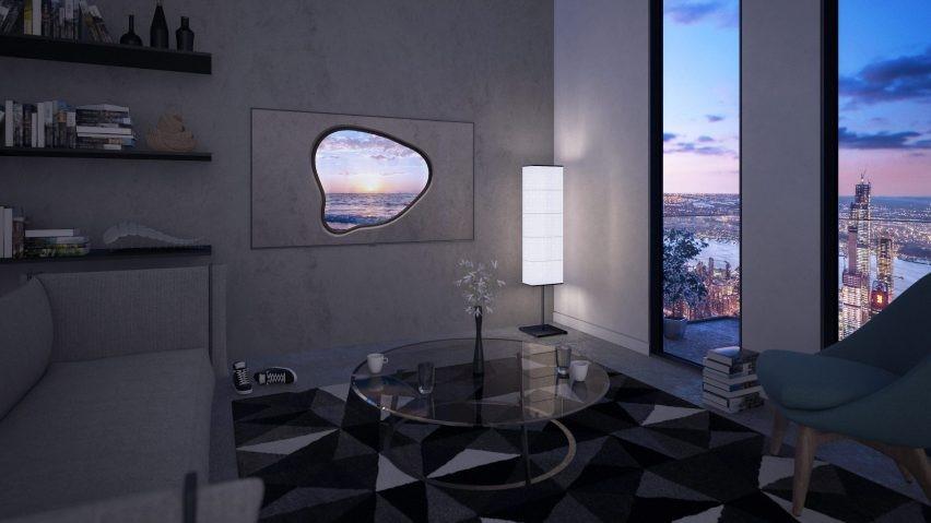 salon avec écran high tech