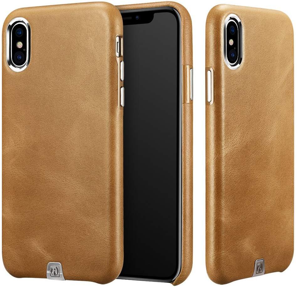 Coque iPhone X et XS ICARER en cuir